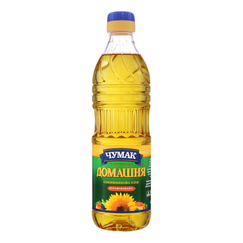 Unrefined Sunflower Oil, Chumak, 900 ml/ 30.43 oz