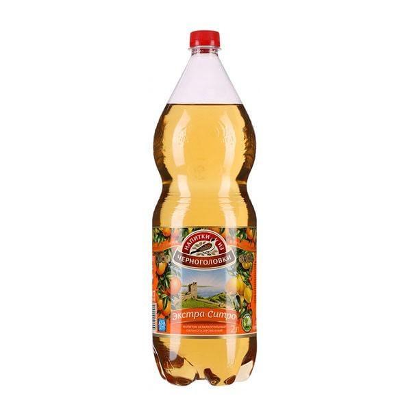 """Soda Chernogolovka """"Extra Sitro"""", 67.6 oz / 2 L"""