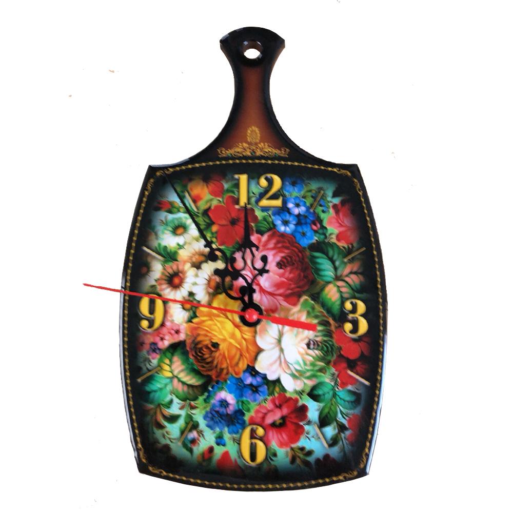 Russian Style Clock Zhostovo Pattern