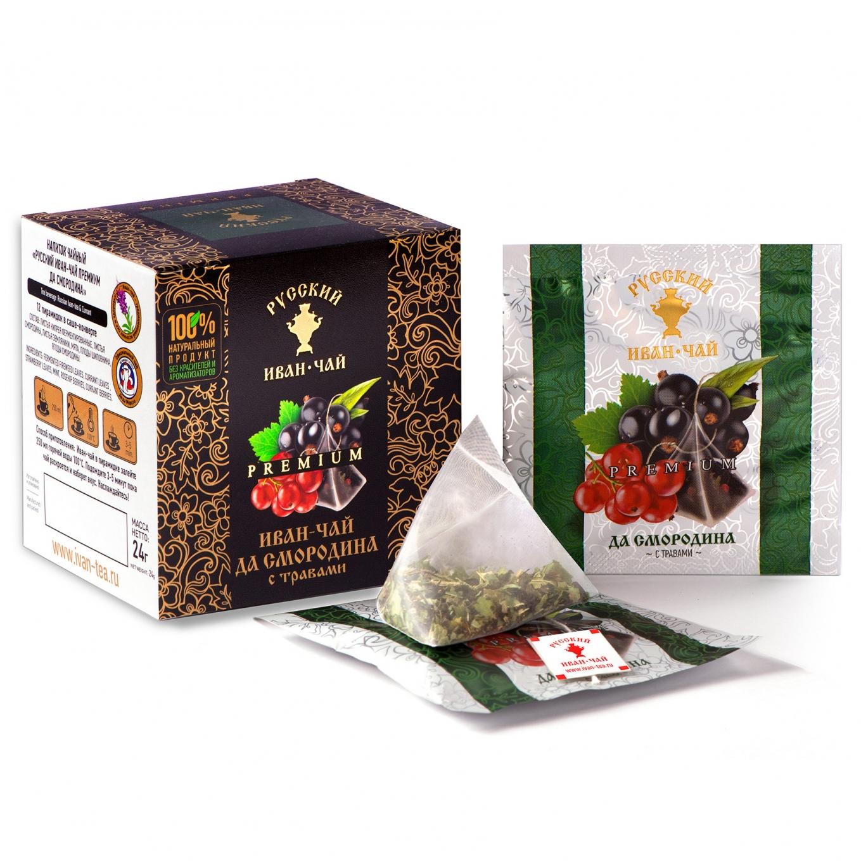 Premium Ivan-Tea and Currant, 12 pyramids *2gr