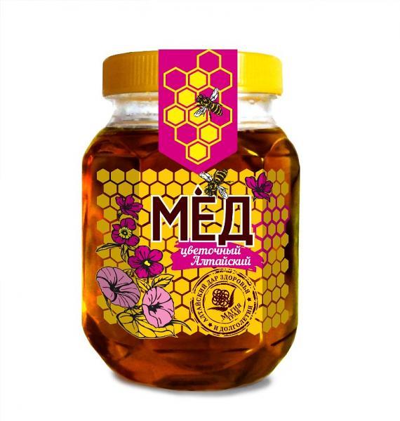 Natural Altai Floral Honey, 10.58 oz / 300 g