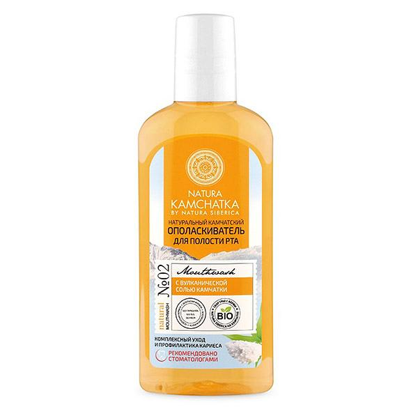 Kamchatka Natural Mouthwash for Complex Care and Prevention of Dental Caries with Volcanic Salt, 8.45 oz / 250 ml