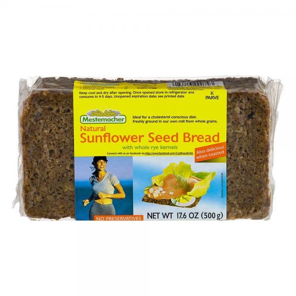 Natural Sunflower Seed Bread, 17.6 oz / 500 g (Mestemacher)