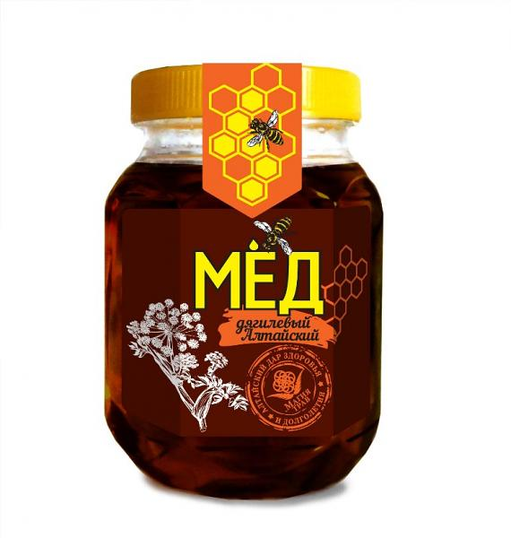 Natural Altai Honey with Archangelica, 10.58 oz / 300 g