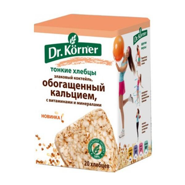 Cereal Cocktail Crispbread with Vitamins, Minerals and Calcium (Dr.Korner), 3.5 oz / 100 g