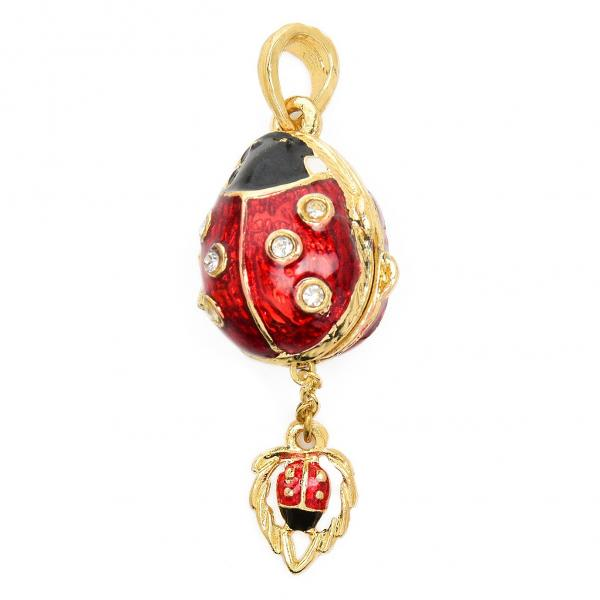"Locket Pendant ""Ladybug"" (red and black), 1"" (1214-4001)"