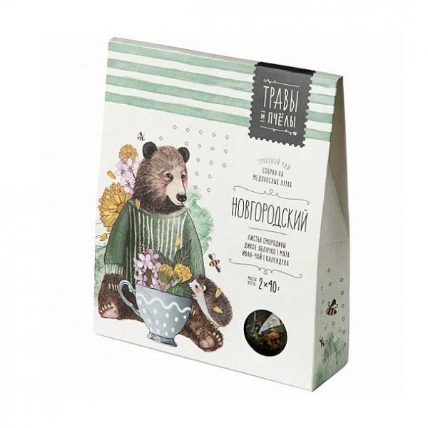 Novgorod Herbal Tea (Herbs & Bees), 2 x 40 g (1.41 oz)