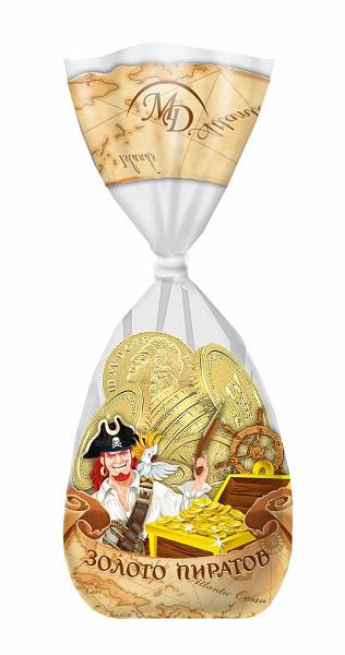"""Chocolate Coins Gift Bag """"Gold of Pirates"""", 5.3oz / 150g"""