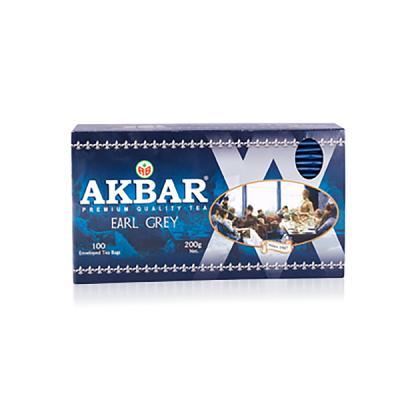 Akbar Earl Grey Premium Tea, 100 tea bags