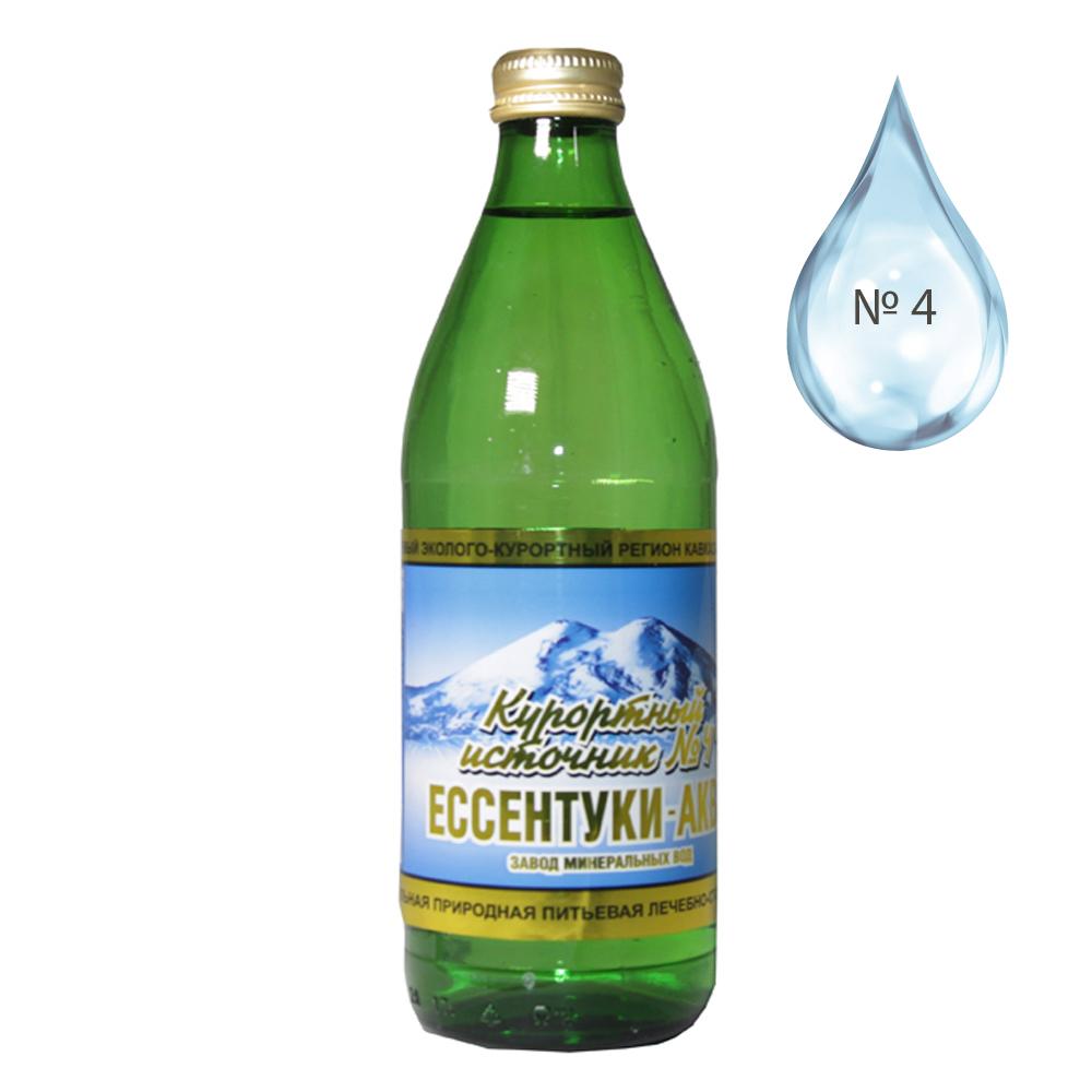 Thermal Water Essentuki #4 (Glass Bottle), 16.5 oz / 0.5 liter