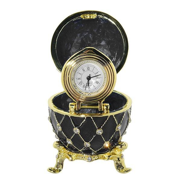 """Egg Box with the Clock (black), 2.5"""" / 7 cm (HAD300CL-9)"""