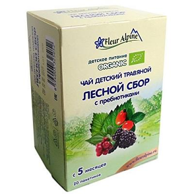 "Organic Baby Herbal Tea ""Forest Collection with Prebiotics"" 30g/1.06oz Fleur Alpine"