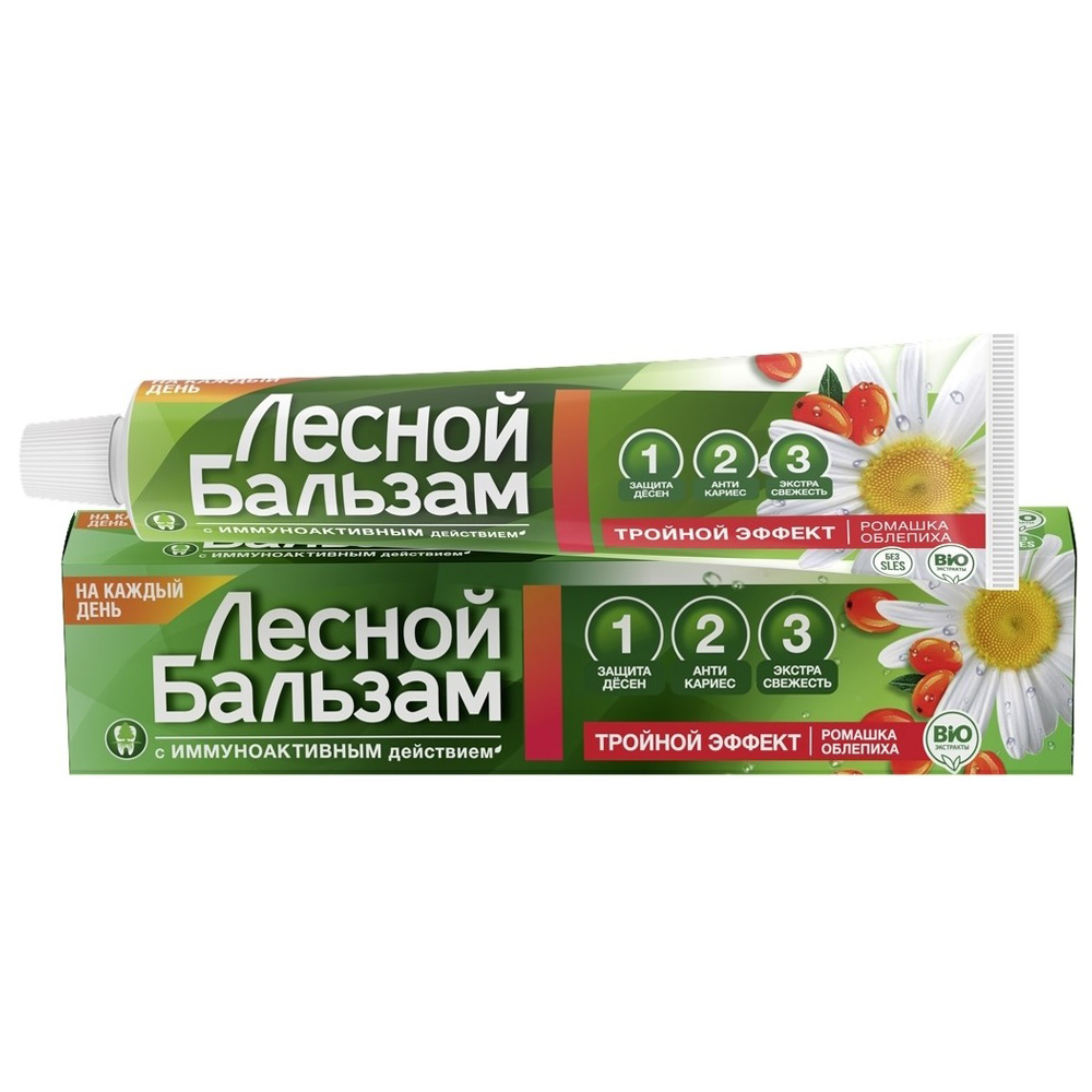 Forest Balm Preventive Toothpaste with Camomile and Sea Buckthorn, 2.53 oz/75 Ml