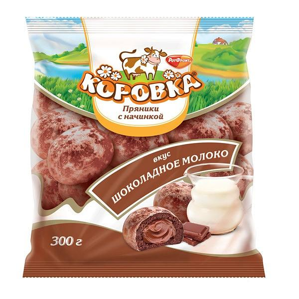"Soft gingerbread ""Korovka"" with stuffing. The taste of chocolate milk. 300gr"