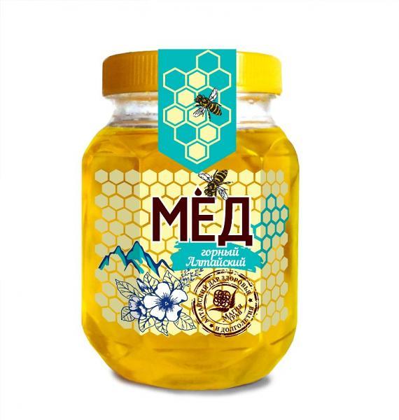 Natural Altai Mountain Honey, 10.58 oz / 300 g