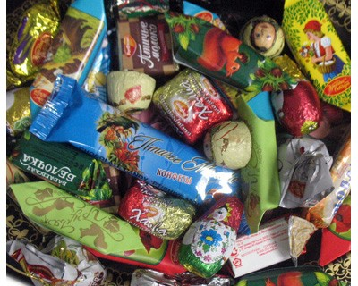 "Assorted Chocolate Candy ""Russia"", 1 lb / 0.44 kg"