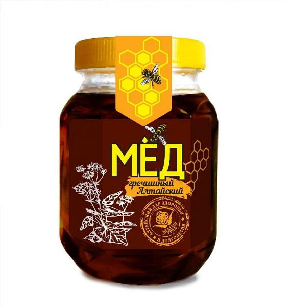 Natural Altai Buckwheat Honey, 10.58 oz / 300 g