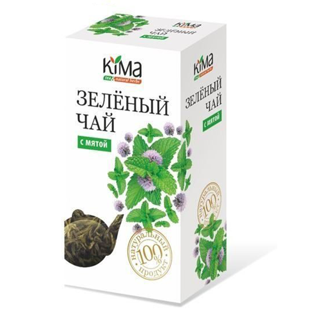 Green Leaf Tea w/ Mint Leaf, KIMA, 75 g/ 0.17 lb