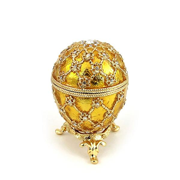 Easter Gift Ideas Coronation Egg with Clock (golden), 2.75