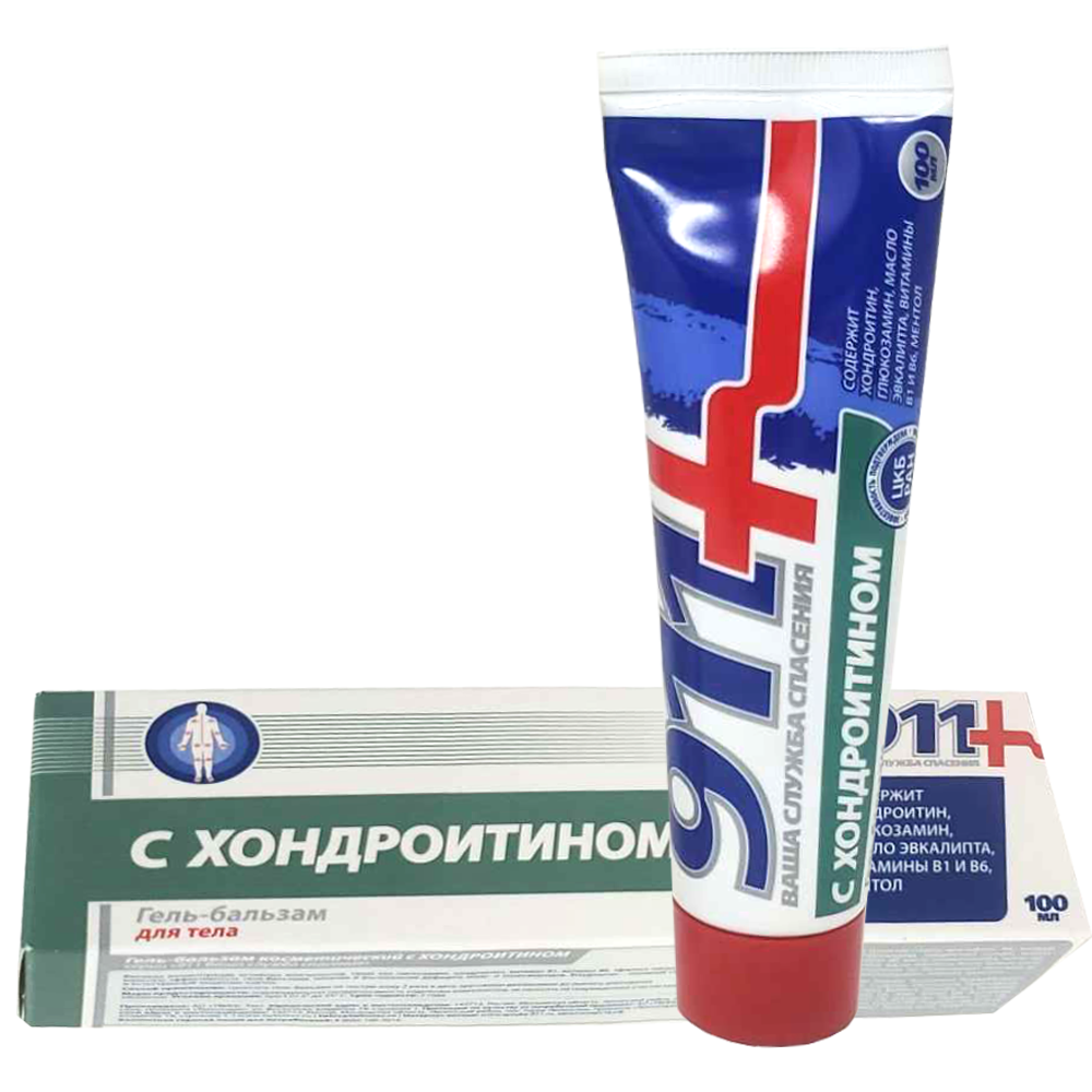 Gel-Balm with Chondroitin for Joint Pain, 911 Twins, 100 ml/ 3.38 oz