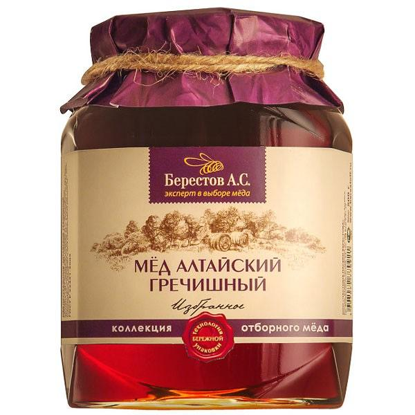 "Natural Altai Honey ""Buckwheat"" 1.1 lb / 500 g (Berestov)"