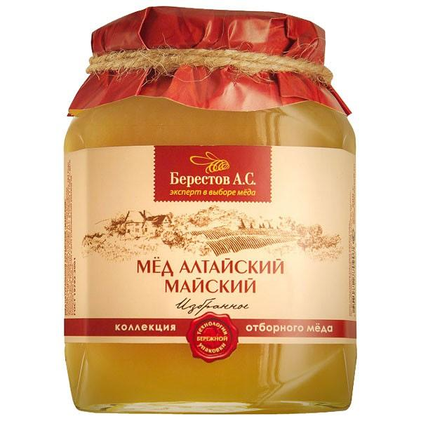 "Honey Altai Natural ""May"" 500g/1.1lb Berestov"