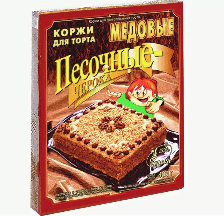 Honey Shortbread Cake Layers, Cherokа, 400 g/ 0.88 lb