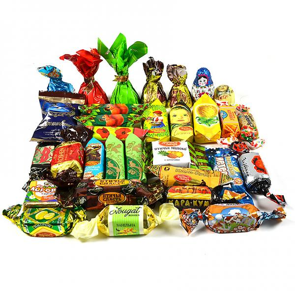 Gourmet Russian Chocolate Candy Assortment for Thanksgiving, 1 lb/ 0.45 kg