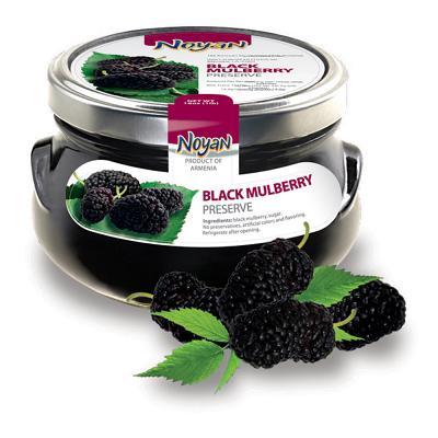 Natural Organic Noyan Black Mulberry Preserve,1 lb/ 0.45 kg