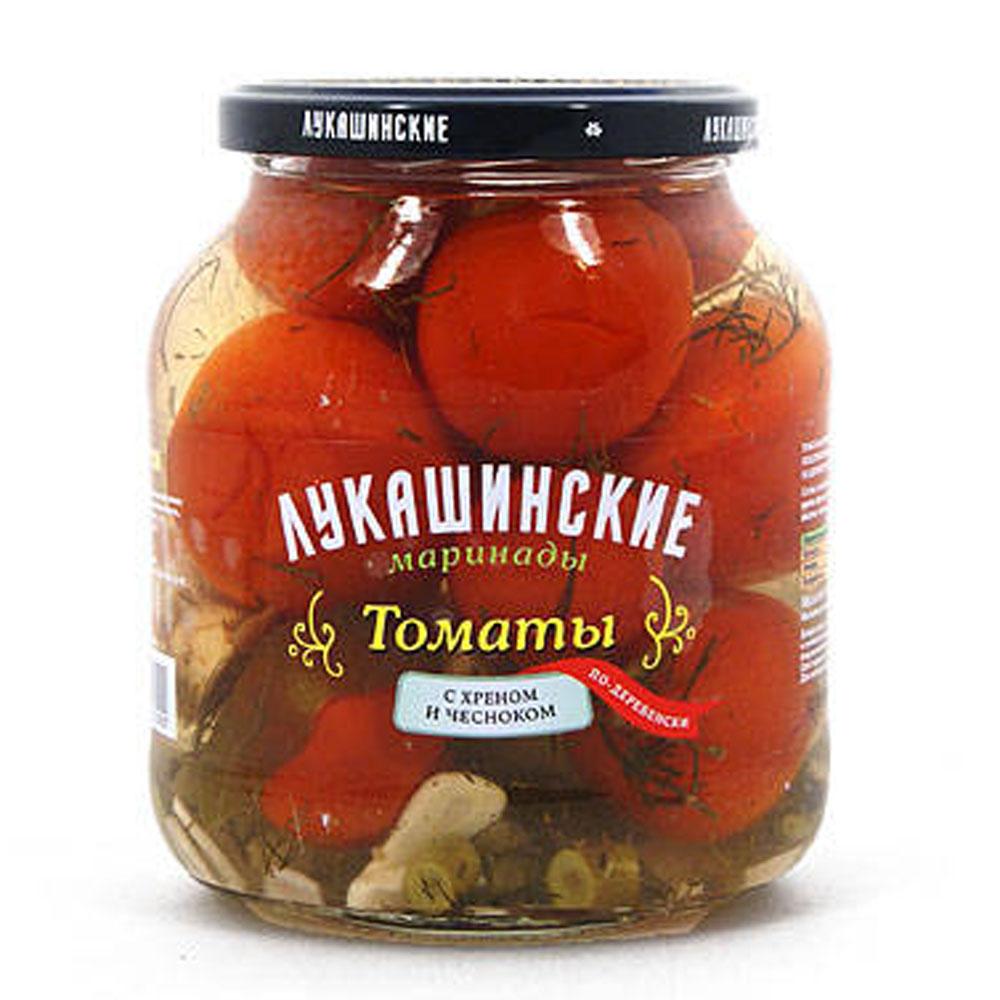 Marinated tomatoes with horseradish and garlic. 670gr/23.6Oz