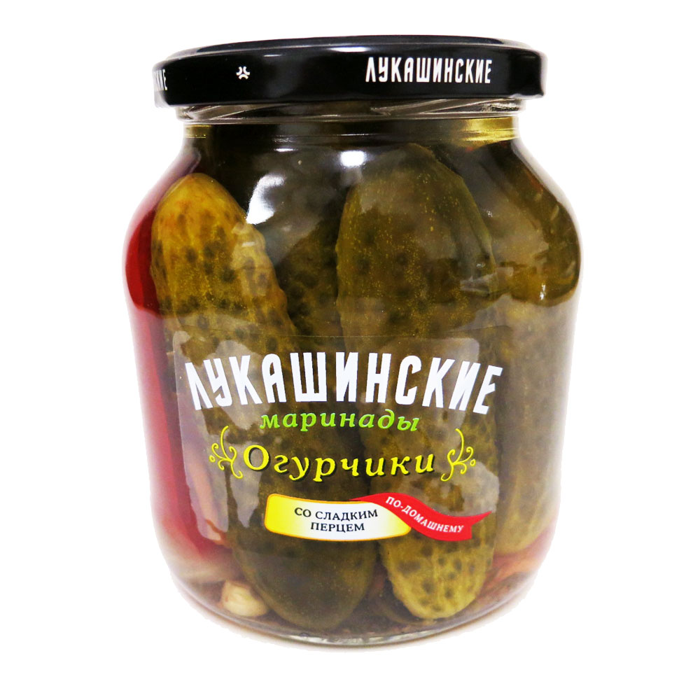Pickled cucumber and sweet pepper. 24Oz/670gr