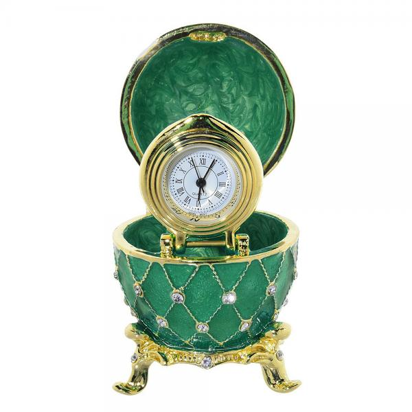 Easter Gift Ideas Egg Box with the Clock (green), 2.5