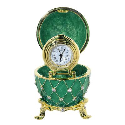 "Egg Box with the Clock (green), 2.3"" / 6 cm (HJD1036CL-4)"