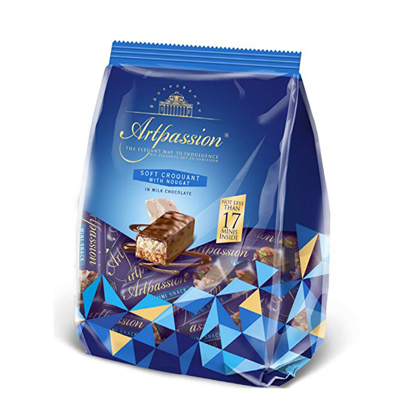 Artpassion Soft Croquant with Nougat In Milk Chocolate, Uniconf, 250 g/ 0.55 lb
