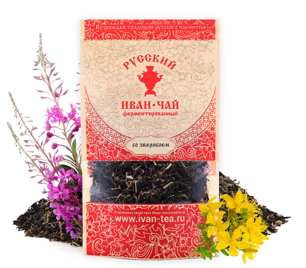 Ivan-Tea Fireweed Black Fermented Small-Leaf w/ St. John's Wort, Doypack Zip Lock, 50 g/ 0.11 lb