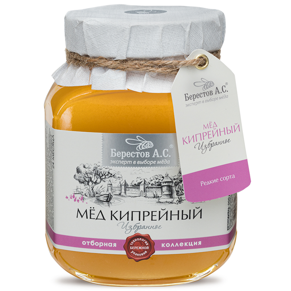 Natural Fireweed Honey, Favorites, Berestov A. S., 500g / 1.1lb