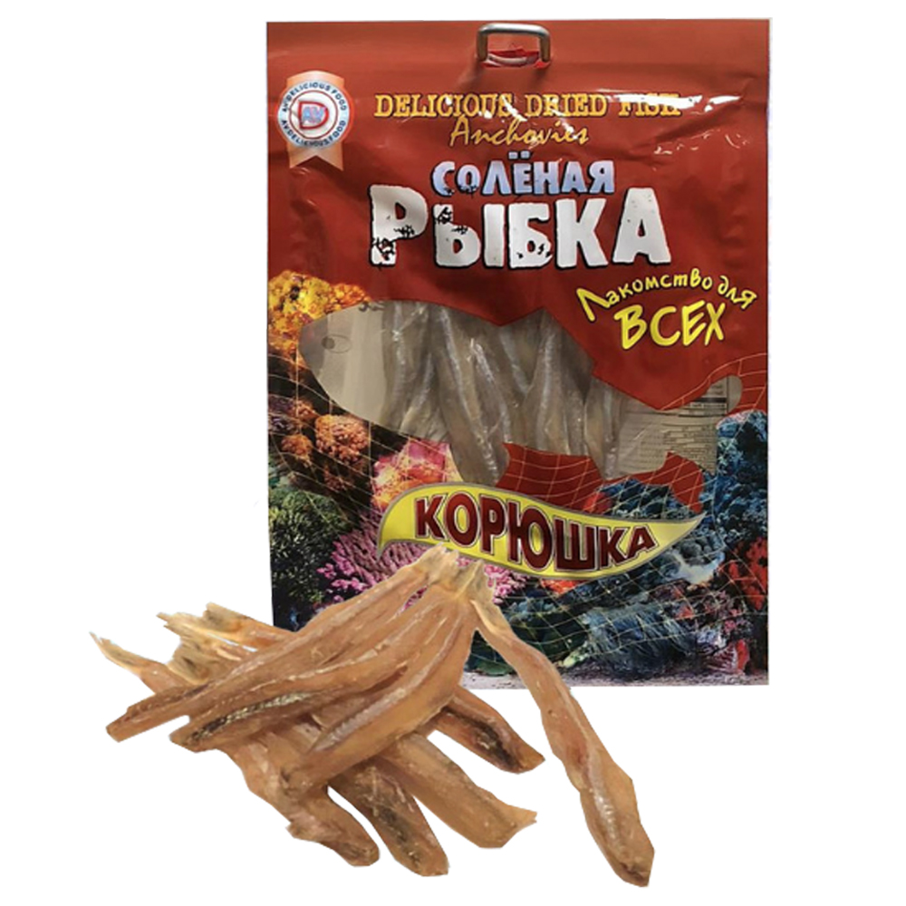 Delicious Dried Fish Koryushka, 3.17 oz / 90 g