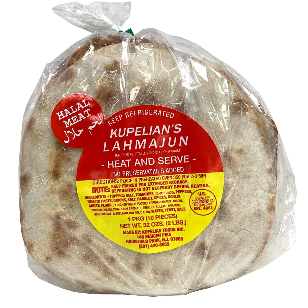 Seasoned Vegetables and Beef on a Crust, Kupelian's Lahmajun, 900 g/ 2 lb