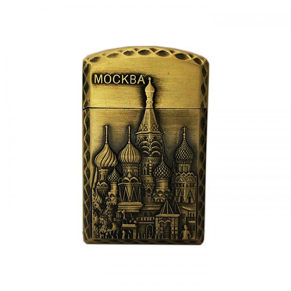 """Bronze Lighter Moscow Red Square, 2.25"""""""
