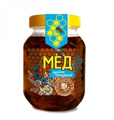 Natural Altai Meadow Honey, 10.58 oz / 300 g