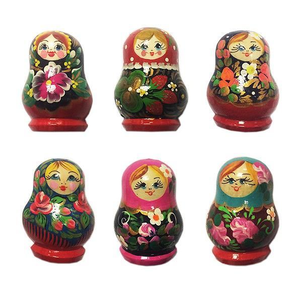 Wooden Nesting Doll Matryoshka Magnet, 1 pc