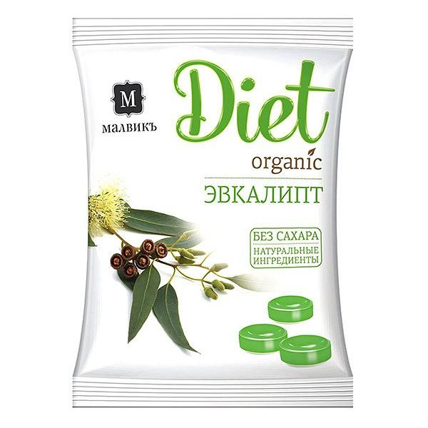 "Diet ""Eucalyptus"" Organic Sugar FREE Candy, 50 g"