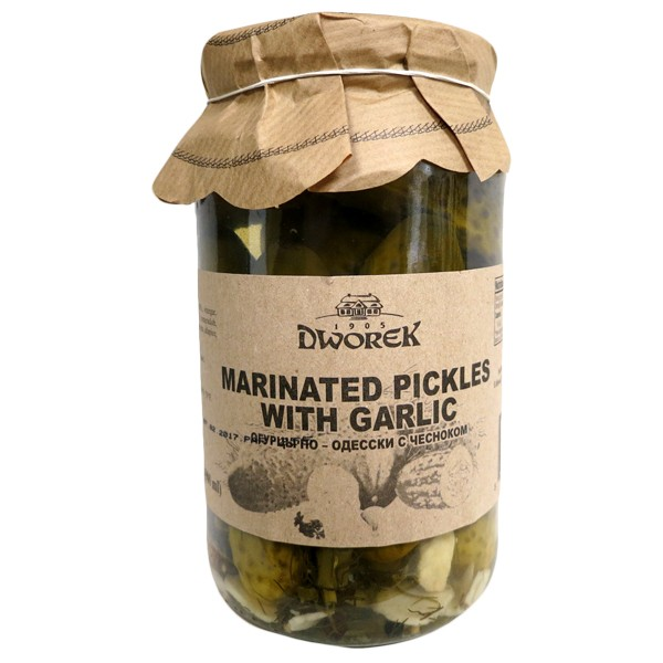 Marinated Pickles with Garlic, 30.4 fl oz / 900 ml (Dworek)