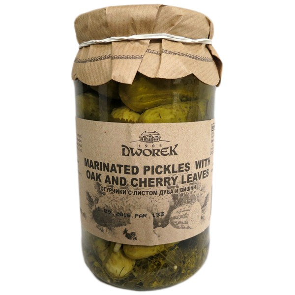 Marinated Pickles with Oak and Cherry Leaves, 30.4 fl oz / 900 ml (Dworek)