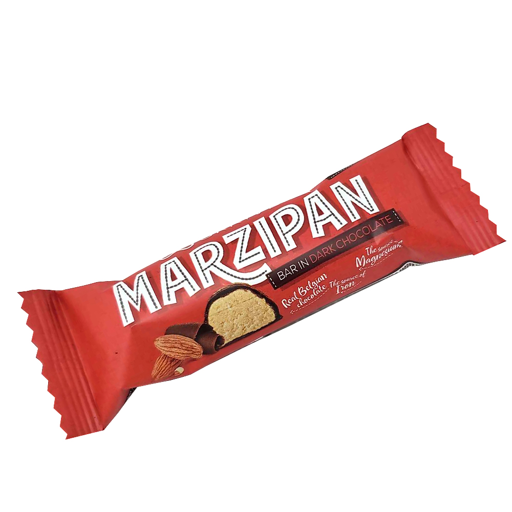 Marzipan Bar Dark Chocolate Glazed, 0.088 lb/ 40 g