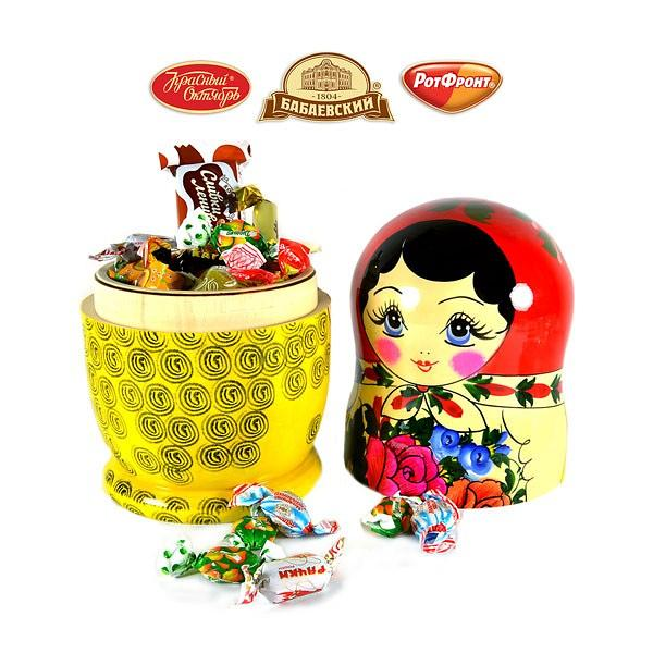 Candy Set  Placed in Matryoshka,  2 lb / 900 g