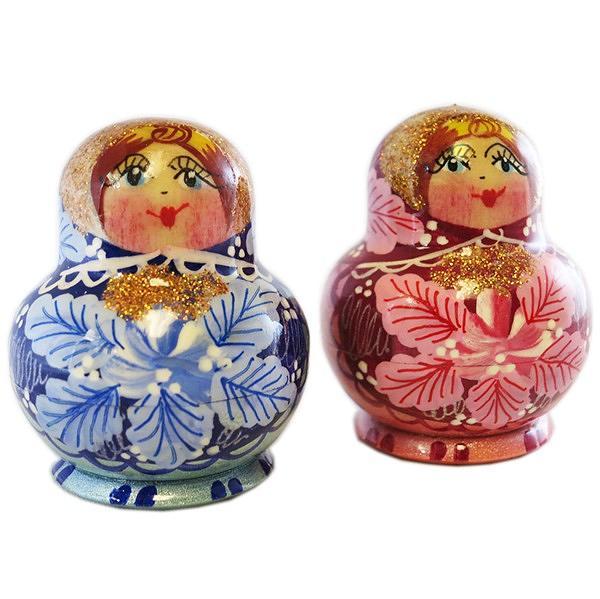 """Exclusive Handmade Tiny Matryoshka """"Flower Doll"""", 5 pcs, 1.8"""""""
