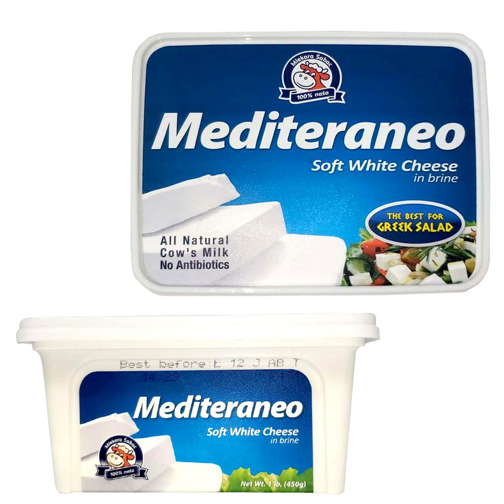 Mediteraneo Soft White Cheese in Brine, 450g/ 0.99 lb