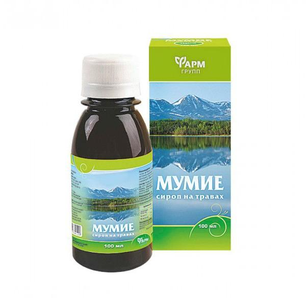 Herbal Syrup with Mummy (Mummiyo), 3.38 fl oz / 100 ml