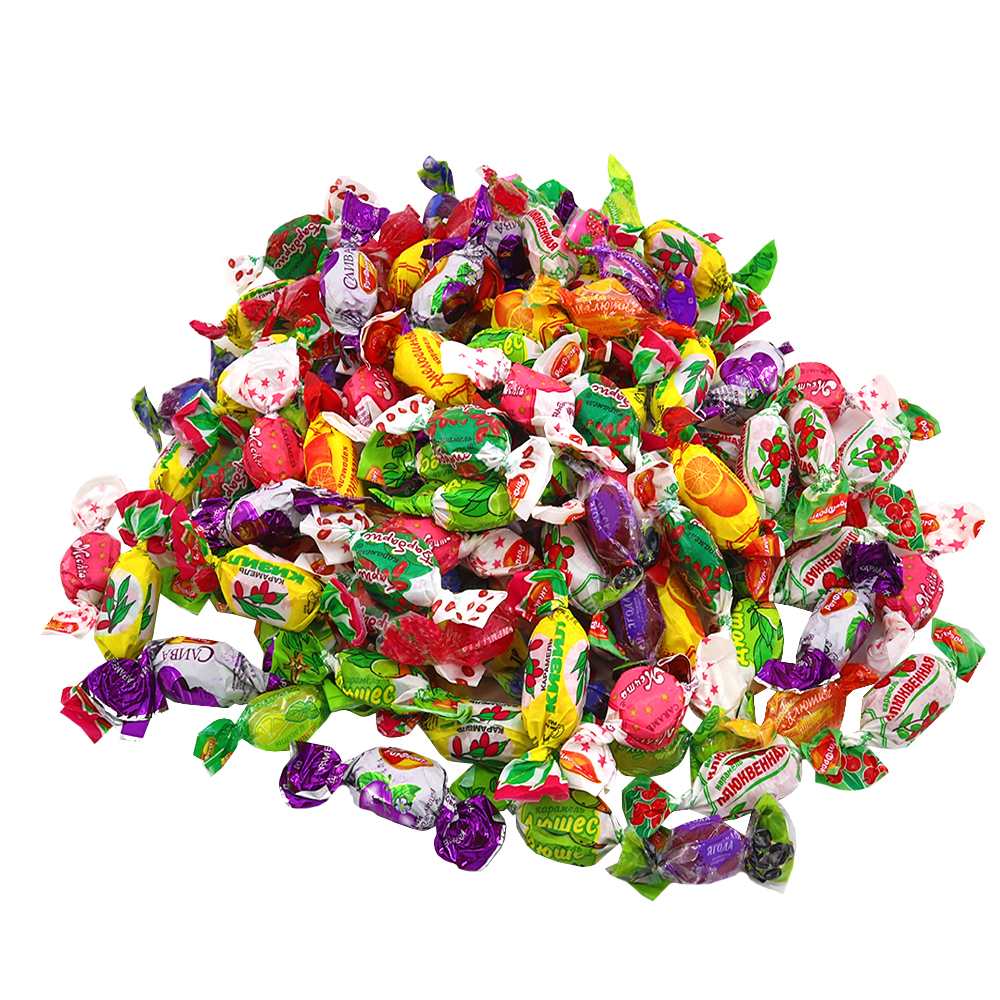Assorted Hard Candies with Fruit Filling, 1 lb / 0.44 kg